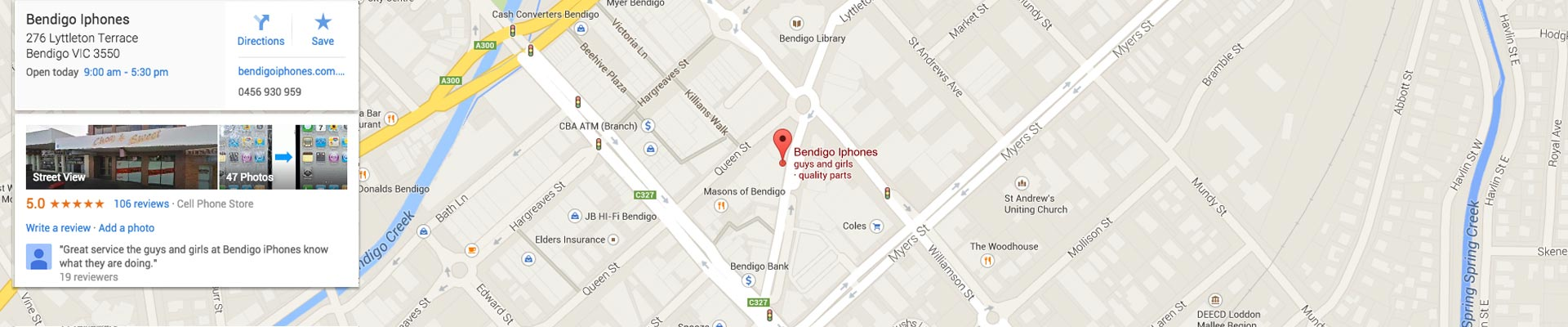 google_map_1920_bendigo_iphones_screen_repairs